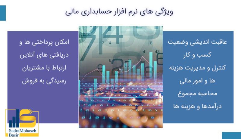 ویژگی های نرم افزار حسابداری مالی